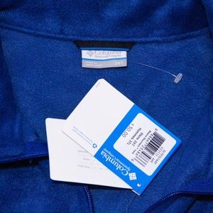 Columbia Sweaters - Columbia Men's Sleeveless Vest 3XL Blue Zip up